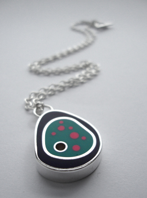 Purple, Turquoise and Pink Biomorph on Chain