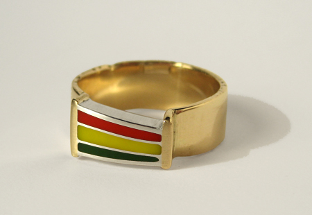 Gold Rasta Ring