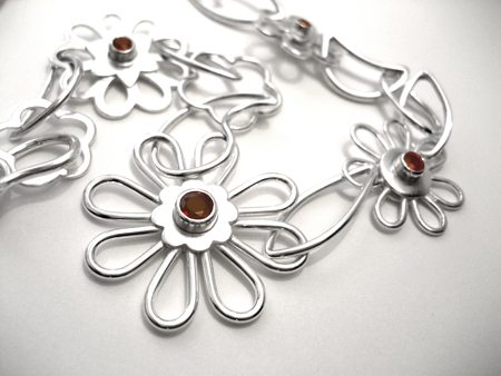 Ruby Flower Necklace