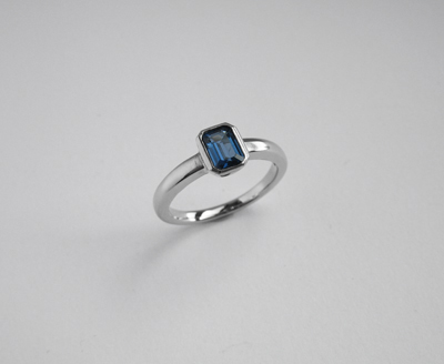 Platinum and Sapphire Engagment Ring