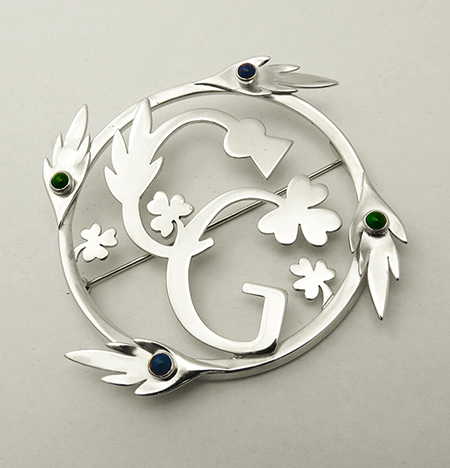 Thistle and Shamrock Plaid Brooch