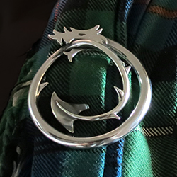 Dragon Plaid Brooch