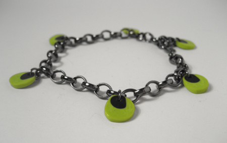 Lime and Black Berry Bracelet